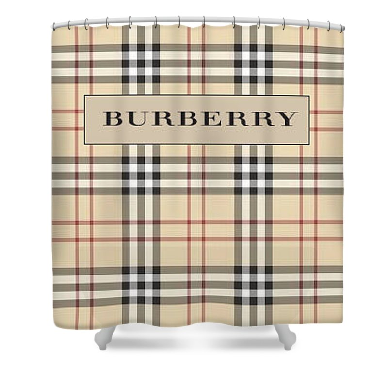 Iphone Shower Curtain Featuring The Photograph Burberry And Fashion By Mark Jen