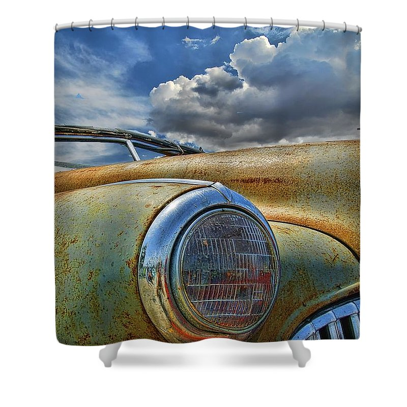Old Car Shower Curtain featuring the photograph 48 Buick by Nick Roberts