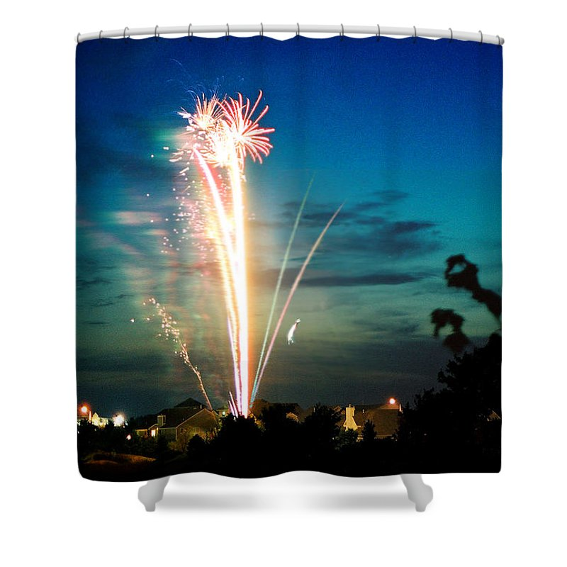 Landscape Shower Curtain featuring the photograph 4rth Of July by Steve Karol