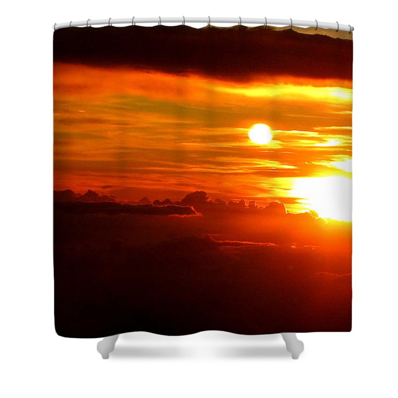 Sun Shower Curtain featuring the photograph Above The Clouds by Sarah Houser