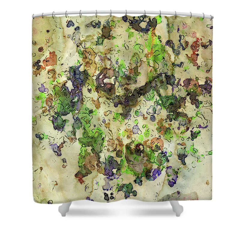 Abstract Shower Curtain featuring the digital art Abstract by Sobano S