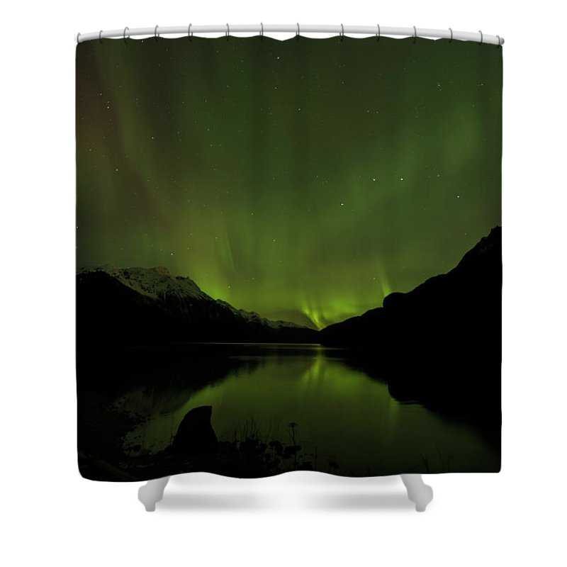 Alaska 2015 Shower Curtain featuring the photograph Aurora Borealis by Donald Trimble
