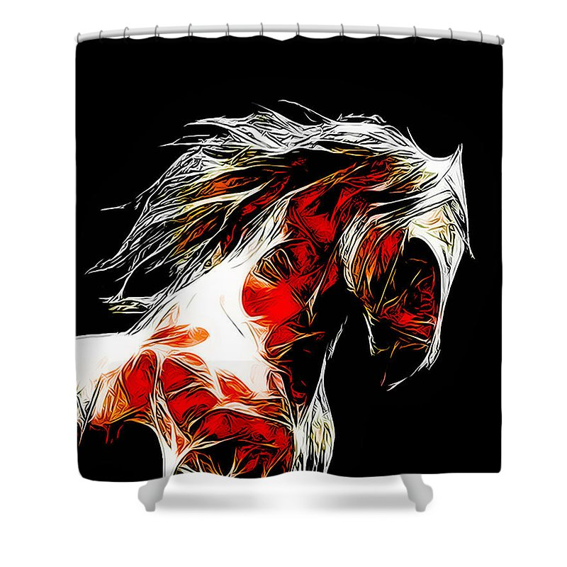 Horse Shower Curtain featuring the photograph Dotsero by Terry Fiala