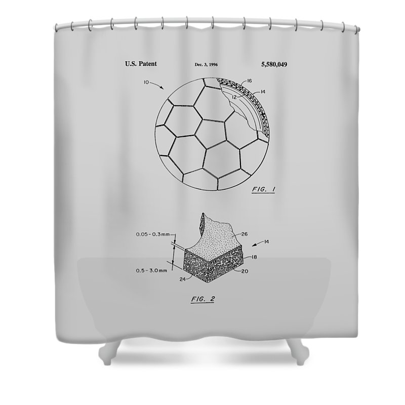 Football Shower Curtain featuring the photograph Football Patent by Chris Smith