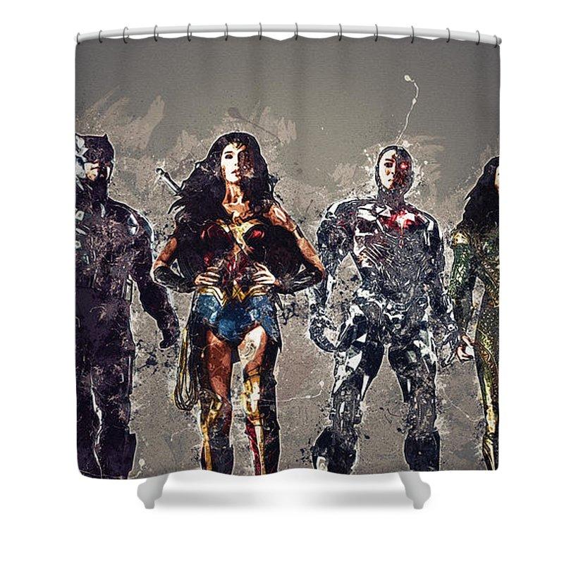 Justice League Shower Curtain For Sale By Anna J Davis