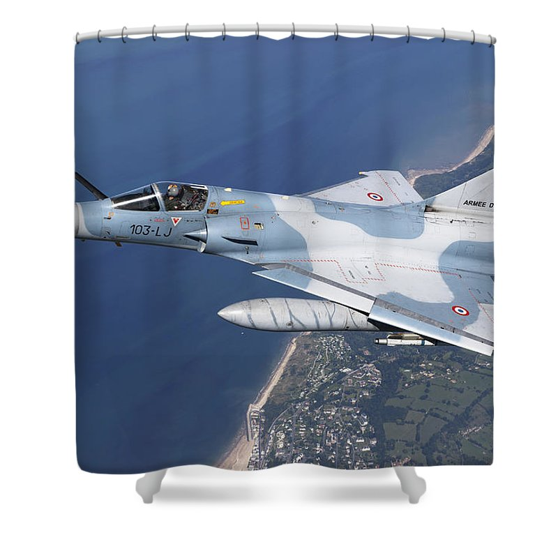Evreux Shower Curtain featuring the photograph Mirage 2000c Of The French Air Force by Gert Kromhout
