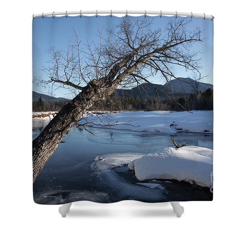 White Mountain National Forest Shower Curtain featuring the photograph Swift River - White Mountains New Hampshire Usa by Erin Paul Donovan