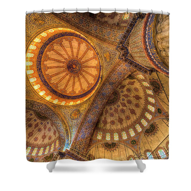 Blue Mosque Shower Curtain featuring the photograph The Blue Mosque Istanbul by David Pyatt