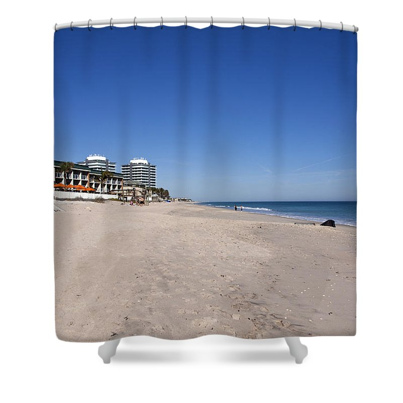 Florida Shower Curtain featuring the photograph The Ocean Grill At Vero Beach In Florida by Allan Hughes