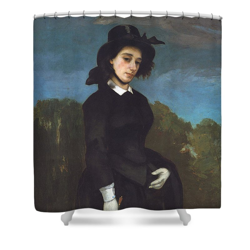 Vacation Shower Curtain featuring the painting Woman In A Riding Habit by Gustave Courbet