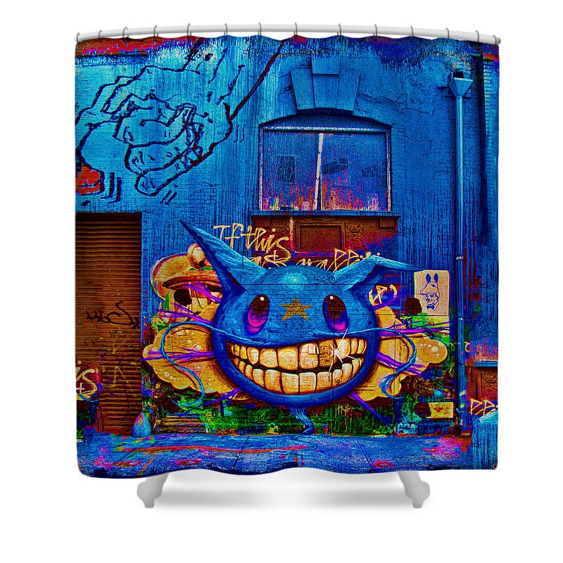 Grafitti Shower Curtain featuring the photograph 540 by Chris Lord