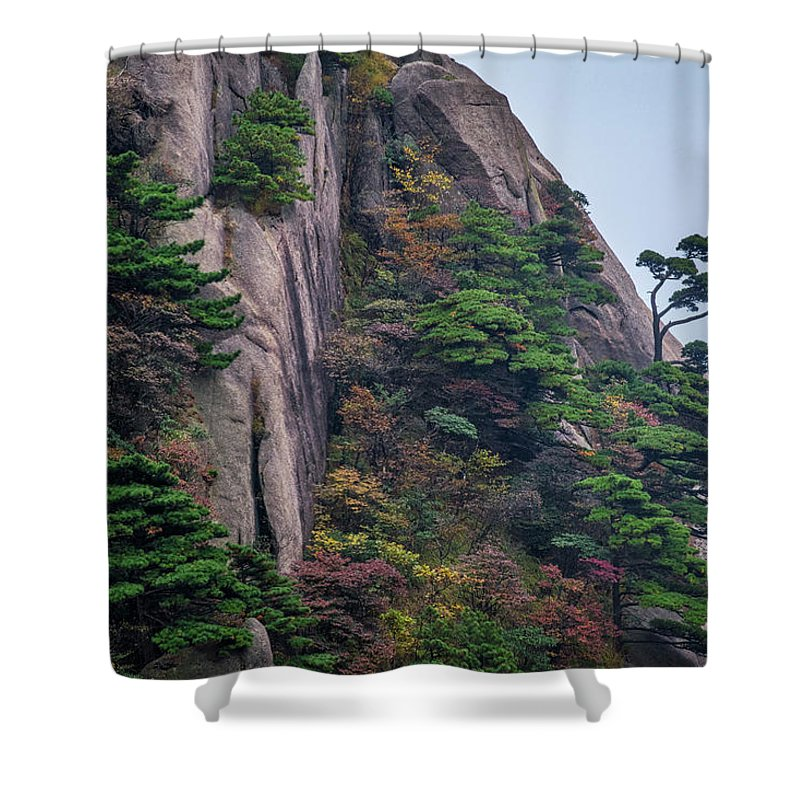 Anhui Province Shower Curtain featuring the photograph 5782- Yellow Mountains by David Lange