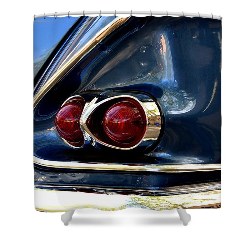 Shower Curtain featuring the photograph 58 Bel Air Tail Light by Dean Ferreira