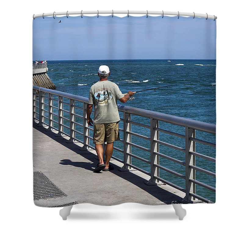 Florida Shower Curtain featuring the photograph Sebastian Inlet State Park In Florida by Allan Hughes