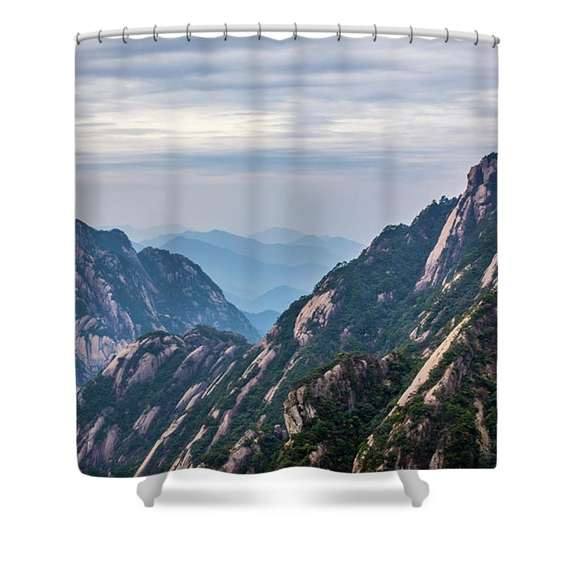 Anhui Province Shower Curtain featuring the photograph 5818- Yellow Mountains by David Lange