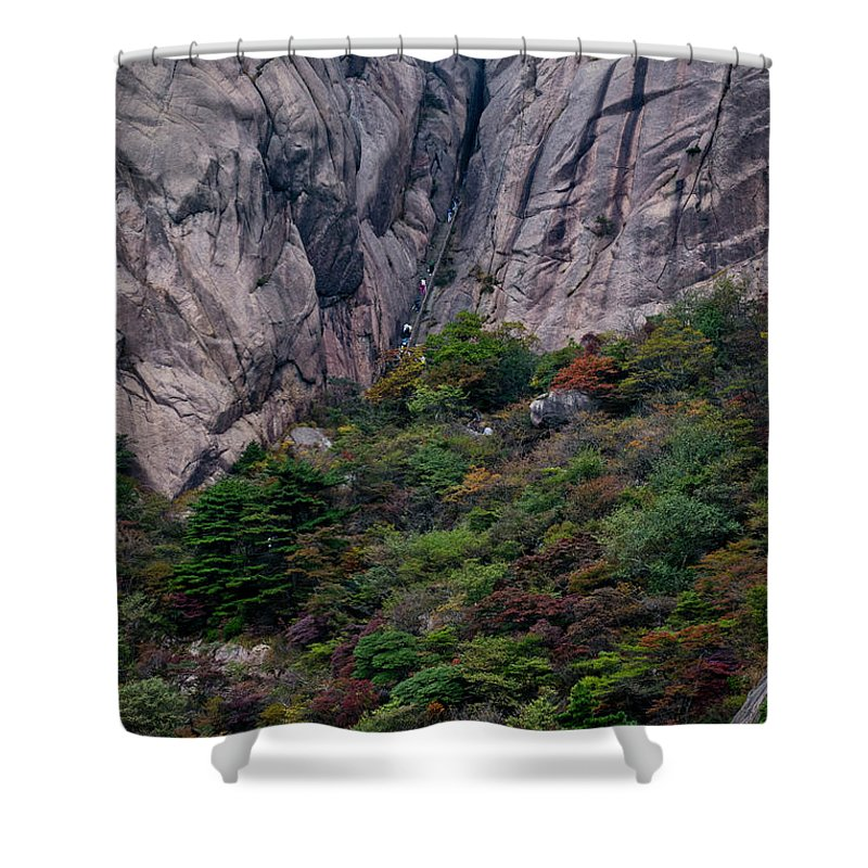 Anhui Province Shower Curtain featuring the photograph 5826- Yellow Mountains by David Lange