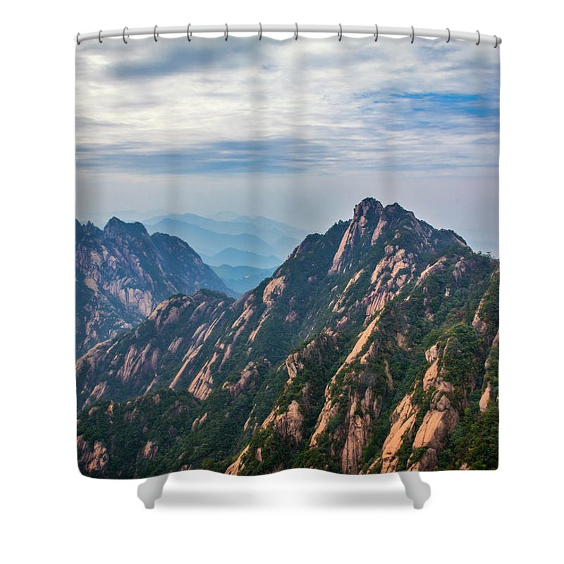 Anhui Province Shower Curtain featuring the photograph 5862 Yellow Mountains by David Lange