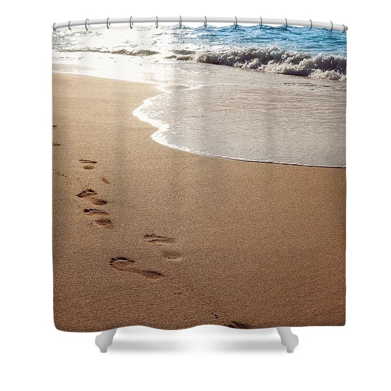Beach Shower Curtain featuring the photograph Beach by FL collection