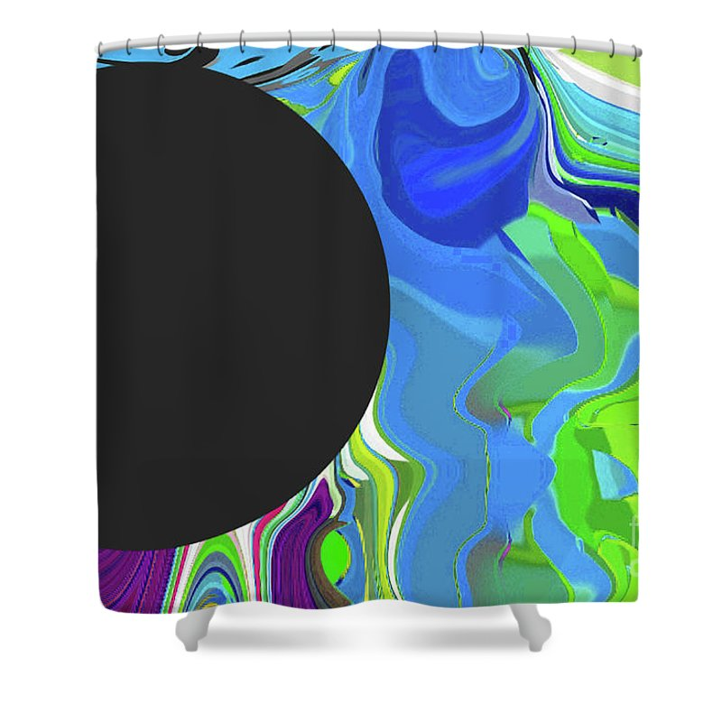 Walter Paul Bebirian Shower Curtain featuring the digital art 6-11-2015gabcdefghijklmnopqrtuvwxyzabcd by Walter Paul Bebirian