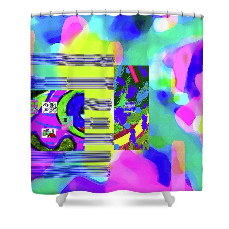 Walter Paul Bebirian Shower Curtain featuring the digital art 6-12-2015cabcdefghijkl by Walter Paul Bebirian