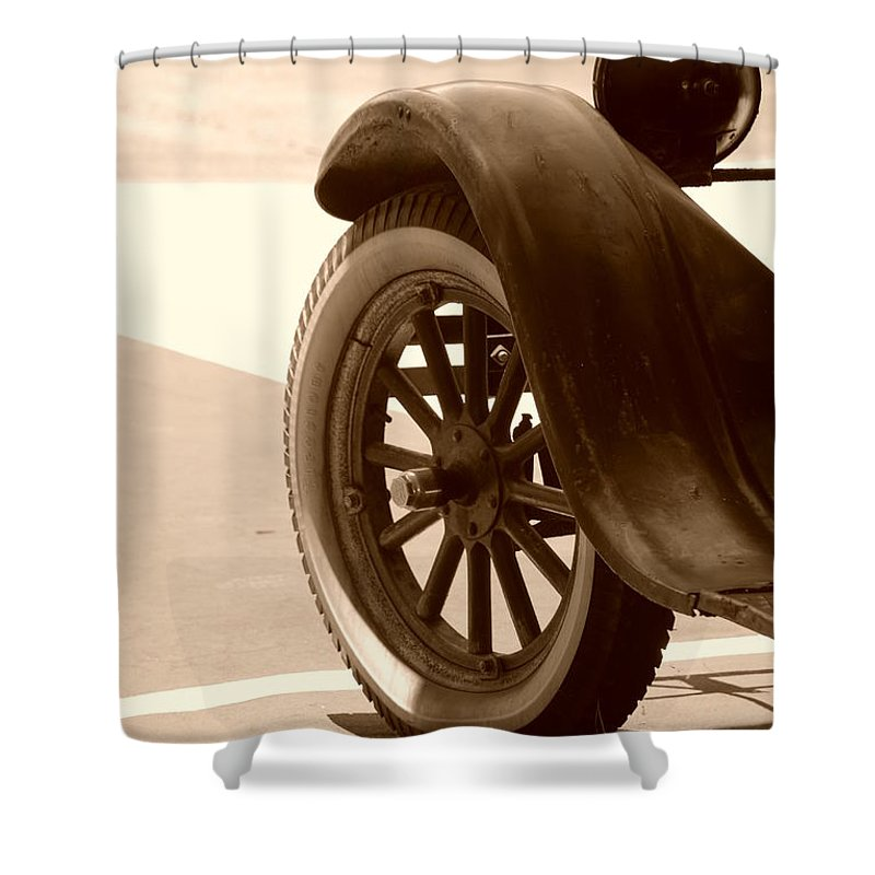 Sepia Shower Curtain featuring the photograph 1926 Model T Ford by Rob Hans