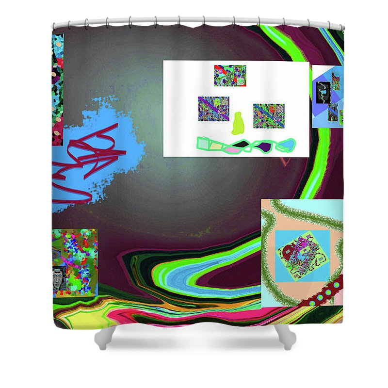 Walter Paul Bebirian Shower Curtain featuring the digital art 6-3-2015babcdefghijklmn by Walter Paul Bebirian