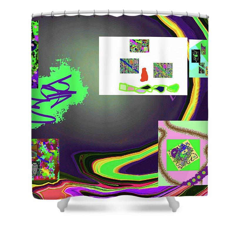 Walter Paul Bebirian Shower Curtain featuring the digital art 6-3-2015babcdefghijklmnopqrtu by Walter Paul Bebirian