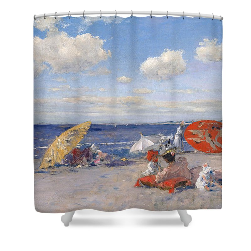 At The Seaside Shower Curtain For Sale By William Merritt Chase