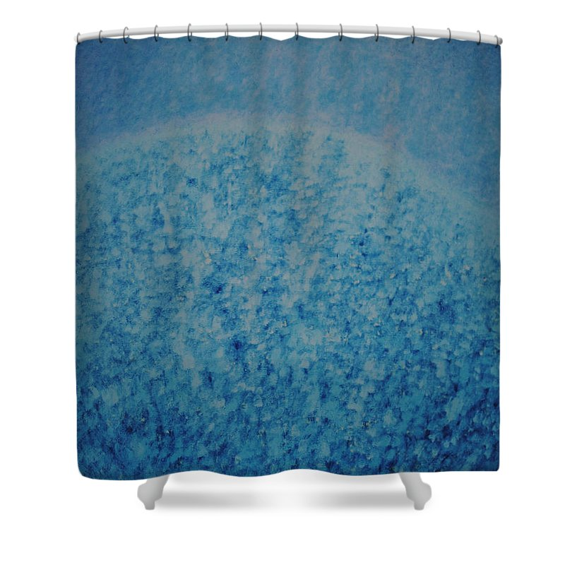 Inspirational Shower Curtain featuring the painting Calm Mind by Kyung Hee Hogg