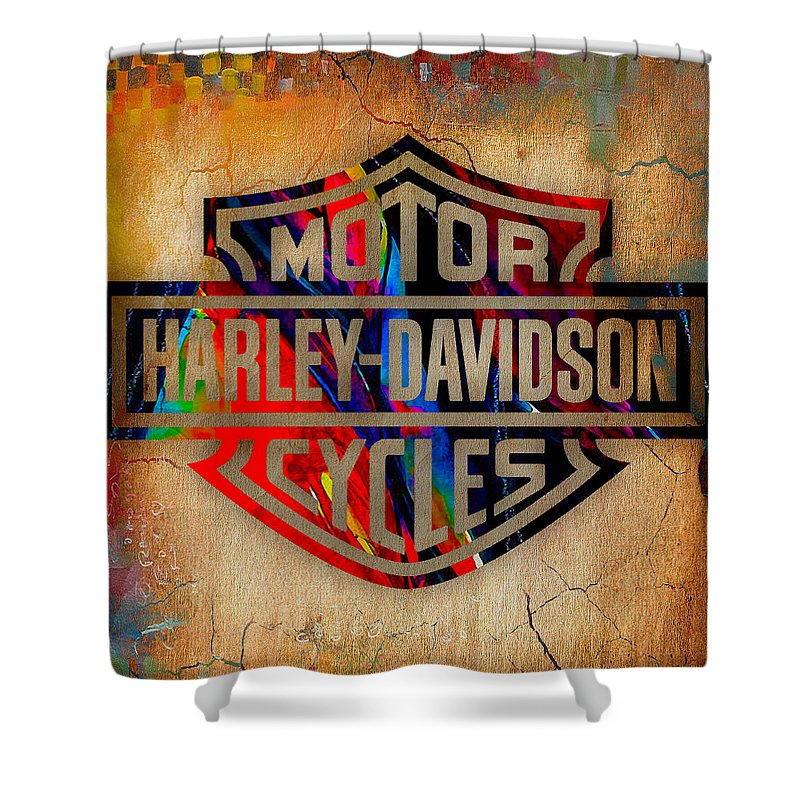 Harley Davidson Cycles Shower Curtain For Sale By Marvin Blaine