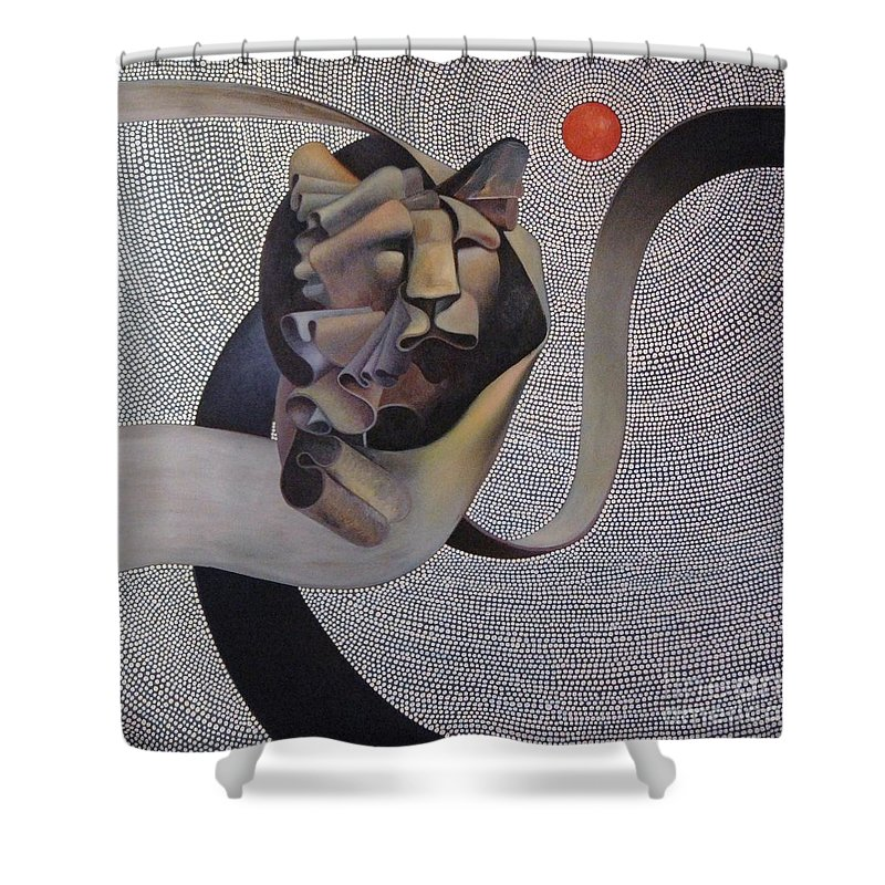 Wii Shower Curtain featuring the painting Kingdom Of Heaven by Riek Jonker