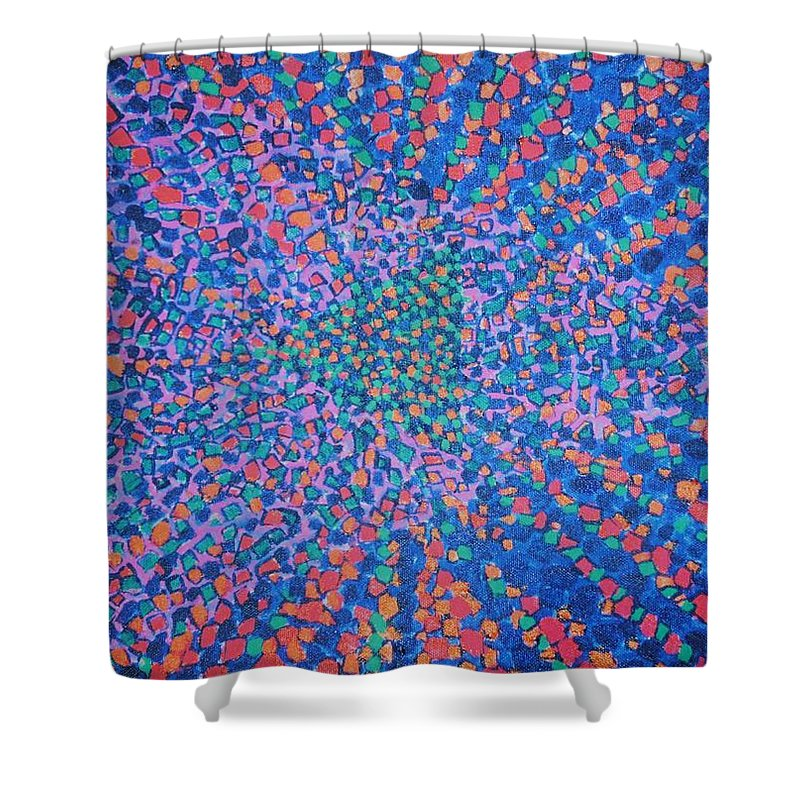 Inspirational Shower Curtain featuring the painting Mobius Band by Kyung Hee Hogg