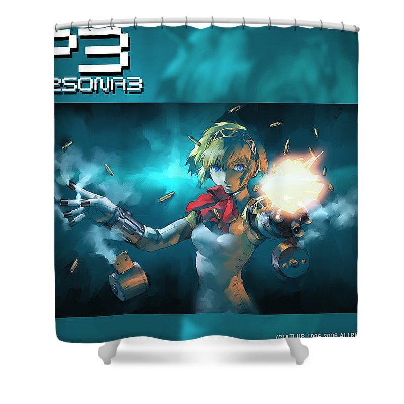 Persona Shower Curtain featuring the digital art Persona by Mery Moon