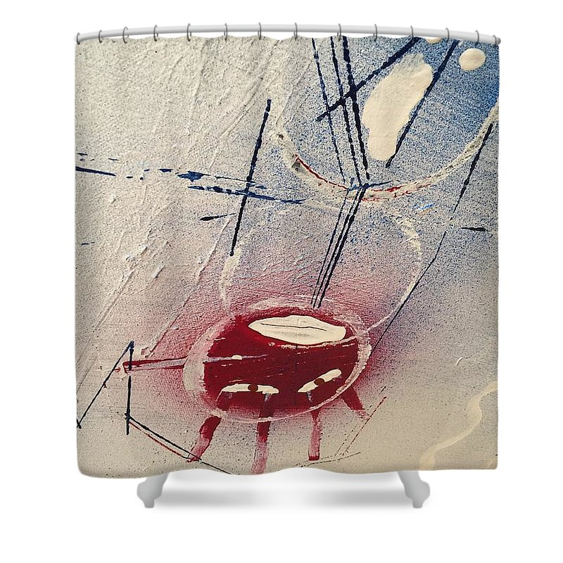 Abstract Shower Curtain featuring the painting Untitled by Kyle Braund