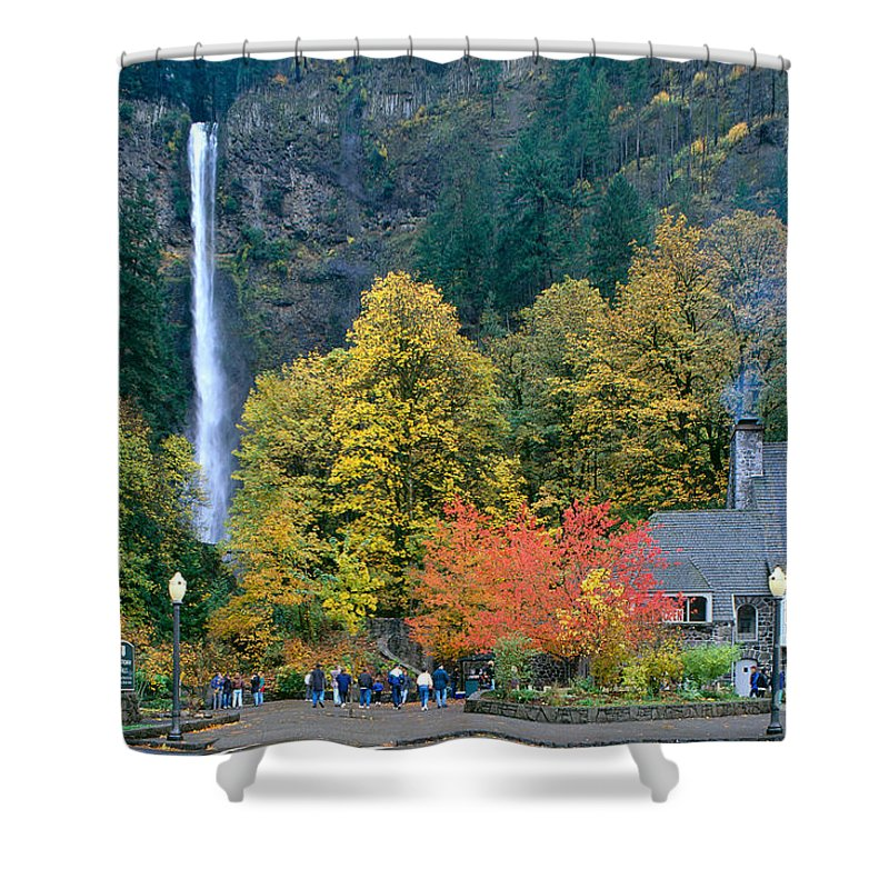 Accommodation Shower Curtain featuring the photograph View Of Oregon by Greg Vaughn - Printscapes