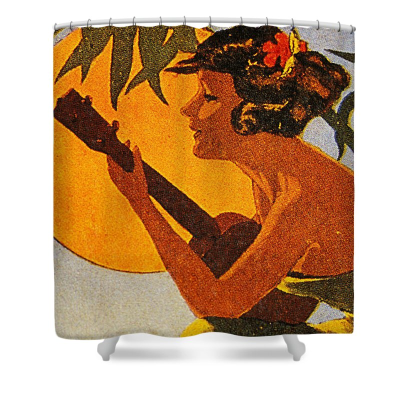 Vintage hawaiian prints curtains