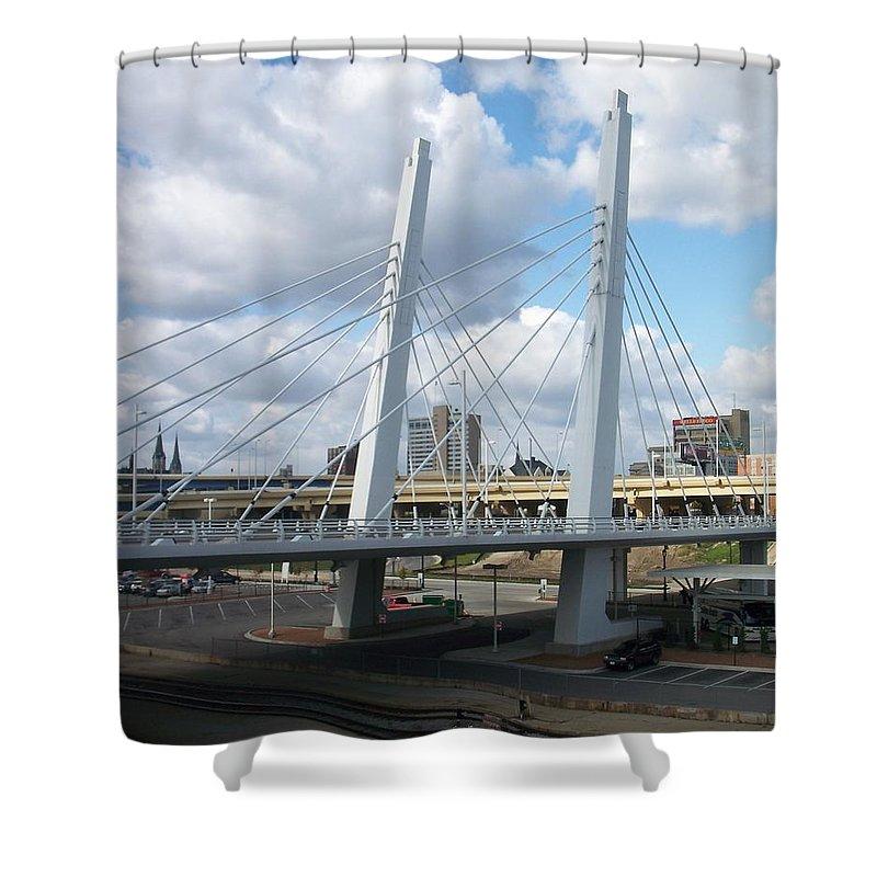 Bridge Shower Curtain featuring the photograph 6th Street Bridge by Anita Burgermeister