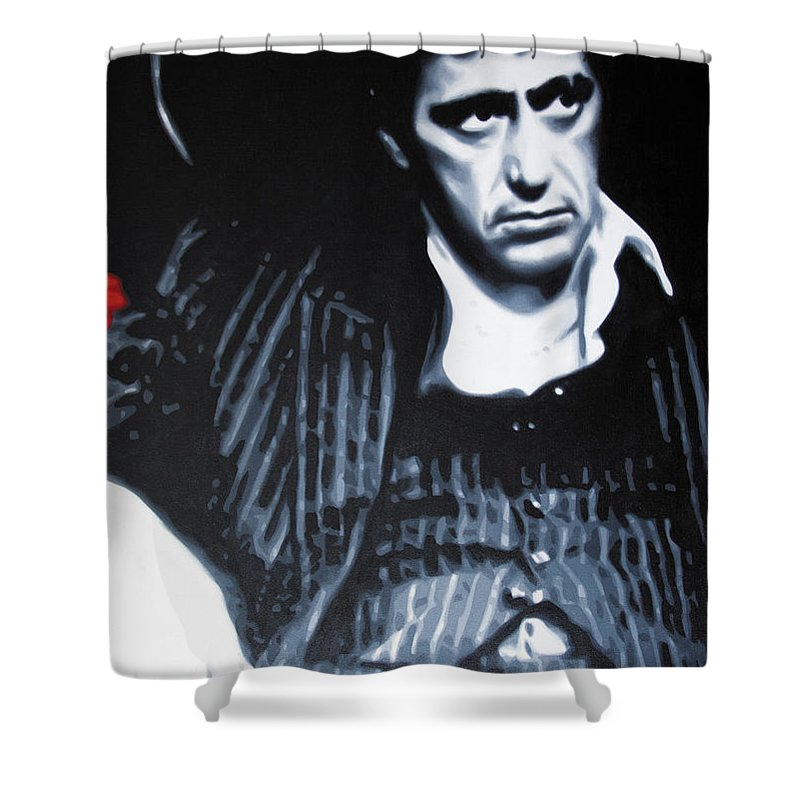 Scarface Shower Curtain Featuring The Painting