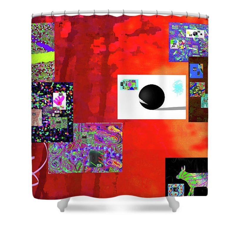 Walter Paul Bebirian Shower Curtain featuring the digital art 7-30-2015fabcdefghijklmn by Walter Paul Bebirian