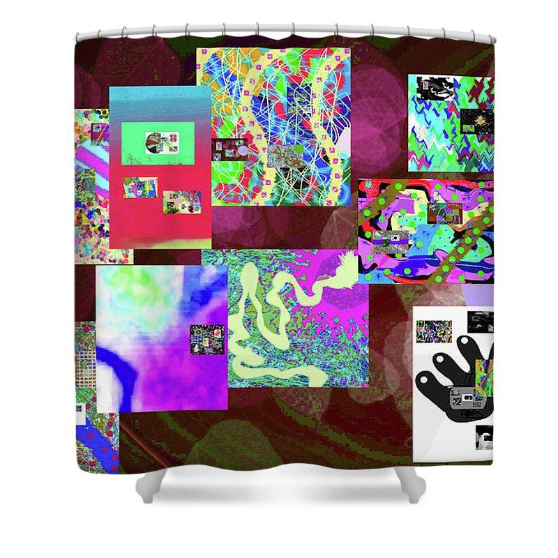 Walter Paul Bebirian Shower Curtain featuring the digital art 7-5-2015dabcdefg by Walter Paul Bebirian