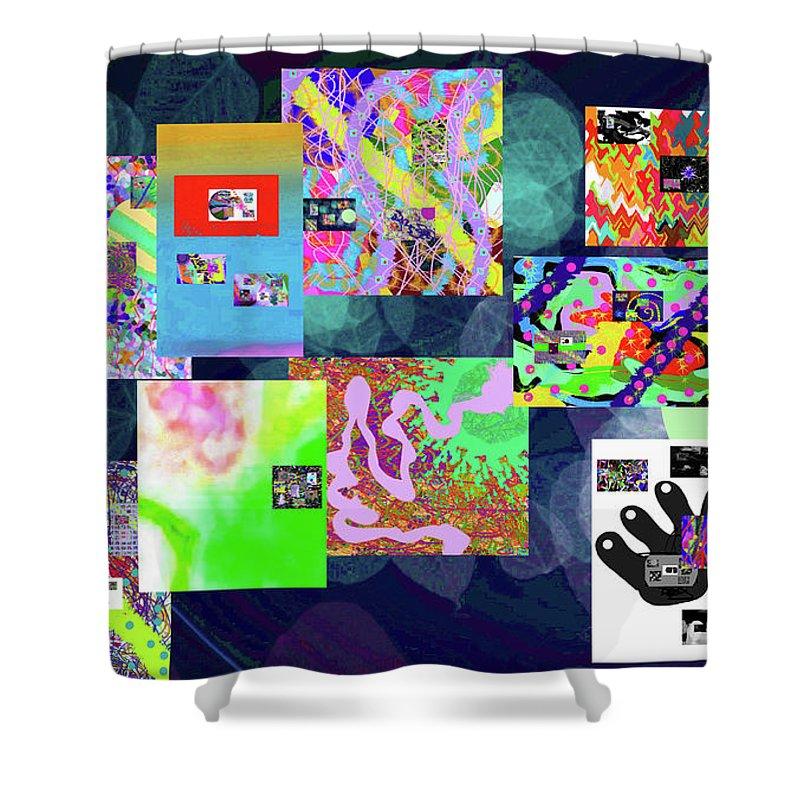 Walter Paul Bebirian Shower Curtain featuring the digital art 7-5-2015dabcdefghijklmnopqrtuvw by Walter Paul Bebirian