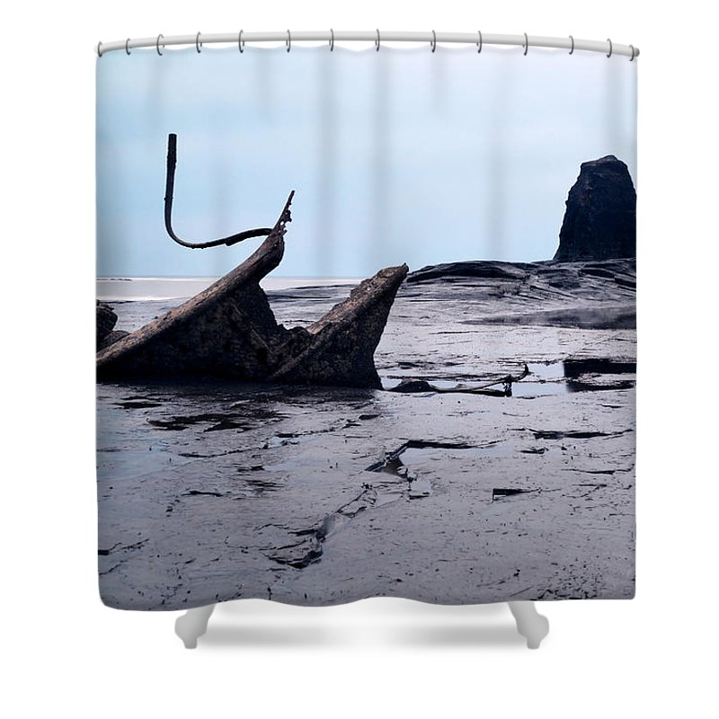 The Iconic Ship Wreck Shower Curtain featuring the photograph Admiral Von Tromp At Black Nab by Sarah Couzens
