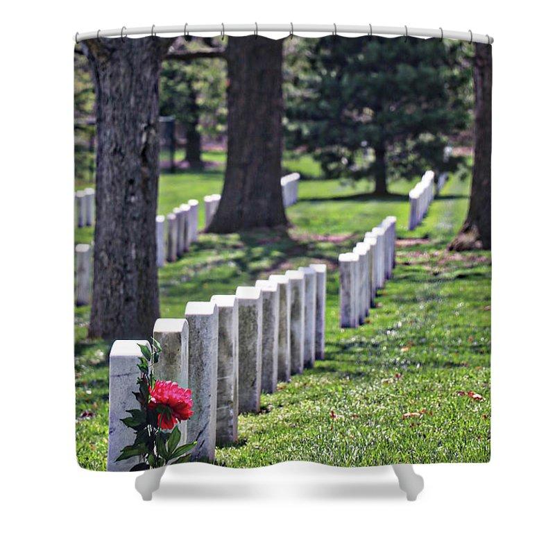 Arlington Cemetery Washington Dc Usa Shower Curtain featuring the photograph Arlington Cemetery Washington Dc Usa by Paul James Bannerman