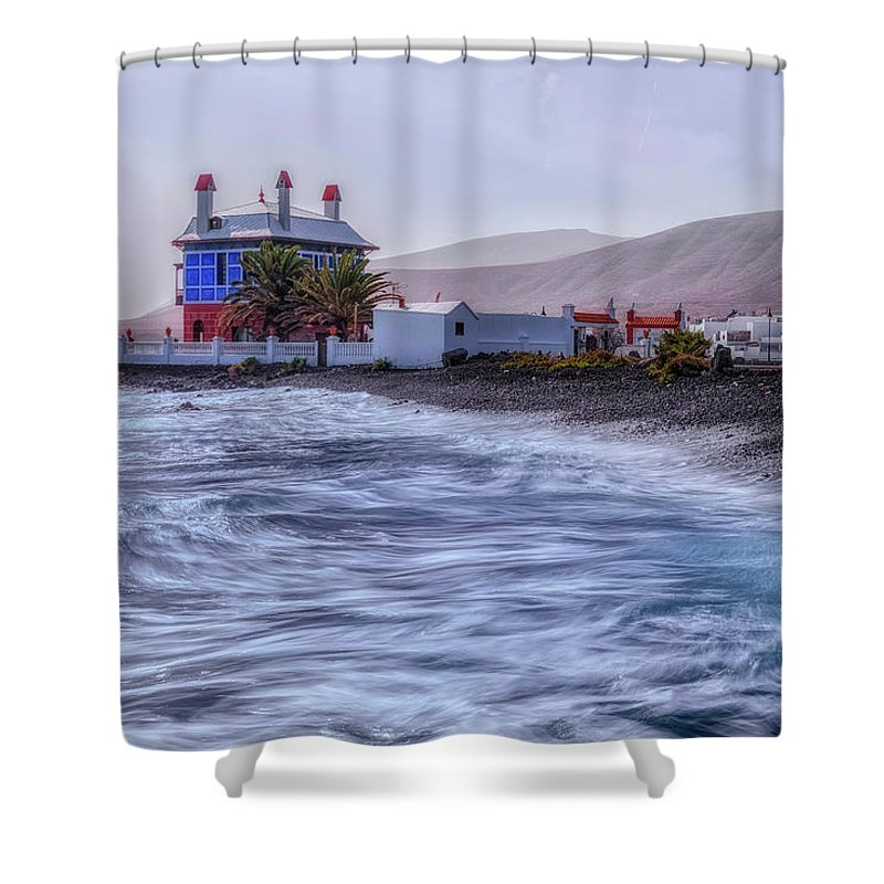 Casa Juanita Shower Curtain featuring the photograph Arrieta - Lanzarote by Joana Kruse