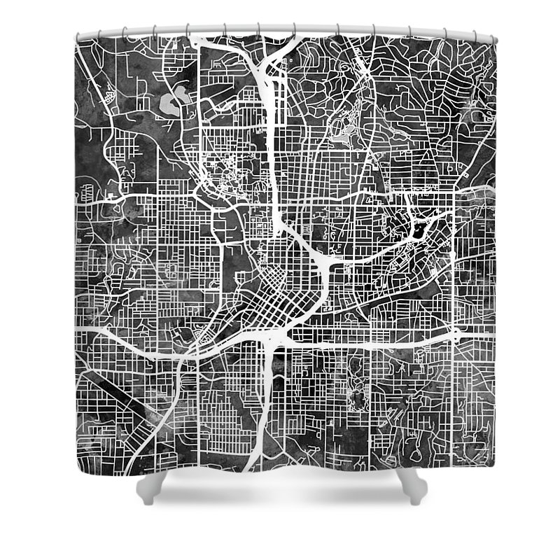 Street Map Shower Curtain featuring the digital art Atlanta Georgia City Map 7 by Michael Tompsett