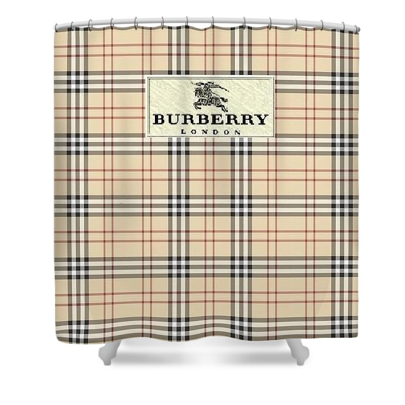 Iphone Shower Curtain Featuring The Mixed Media Burberry And Fashion By Mark Jen