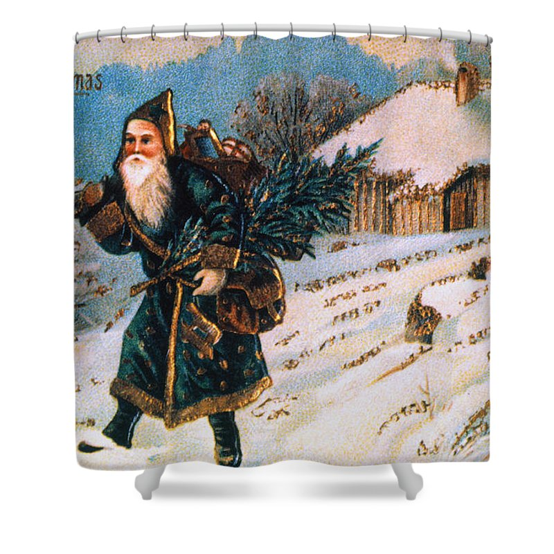 19th Century Shower Curtain featuring the photograph Christmas Card by Granger