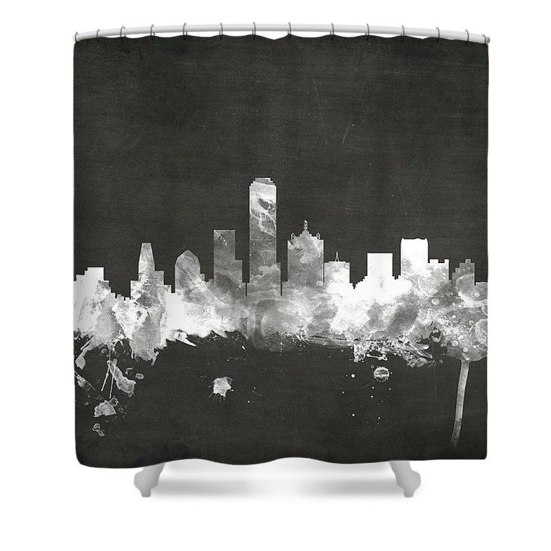 Dallas Skyline Shower Curtains