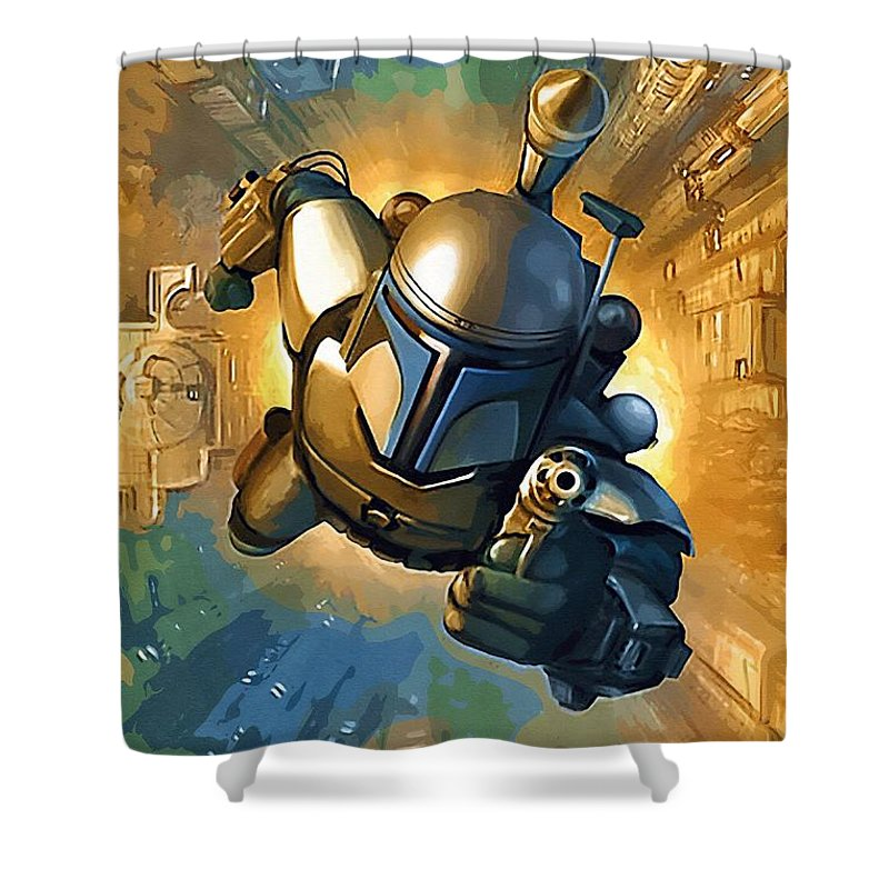 Sith Star Wars Shower Curtain Featuring The Digital Art Empire Poster By Larry Jones