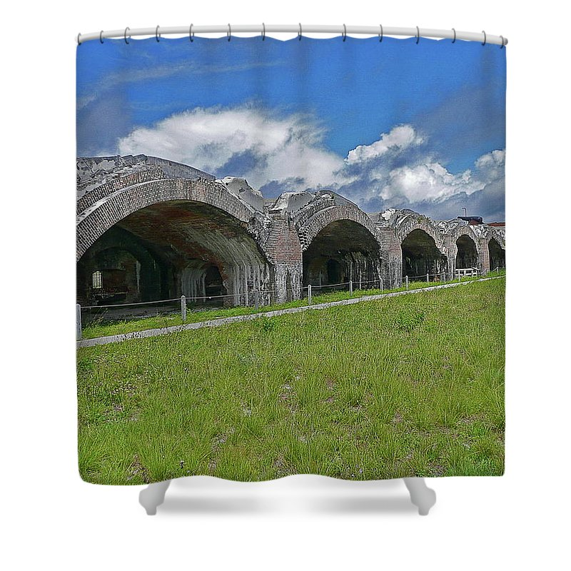 Fl Shower Curtain featuring the photograph Fort Pickens by Anthony Dezenzio